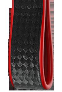 Bicolore | Carbonio Nero - Laterali Rosso